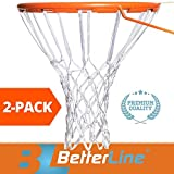 BETTERLINE 2-Pack Premium Quality Professional Basketball Net All-Weather Thick Heavy Duty | Multi-Pack