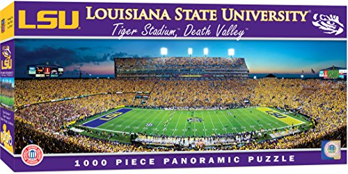 MasterPieces Collegiate LSU Tigers 1000 Piece Stadium Panoramic Jigsaw Puzzle ()