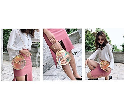 for Magic Color Tote Handbags Satchel Crossbody Designer FZHLY Laser Messenger Women Chain Shoulder Bag Ffq77Ut