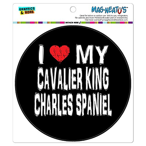 Graphics and More I Love My Cavalier King Charles Spaniel Stylish Automotive Car Refrigerator Locker Vinyl Magnet - Charles Cavalier Magnet King