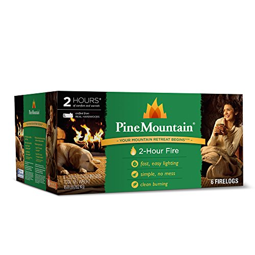 Pine Mountain Traditional Firelog, 2-Hour Burn Time, 1 Log