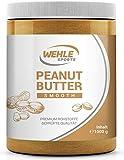 Erdnussbutter Peanut Butter ohne Zucker ohne Zusätze natürliche Erdnussbutter, Erdnussmus ohne Salz, Öl oder Palmfett Wehle Sports natürliche Nussbutter 1000g (1kg) Smooth