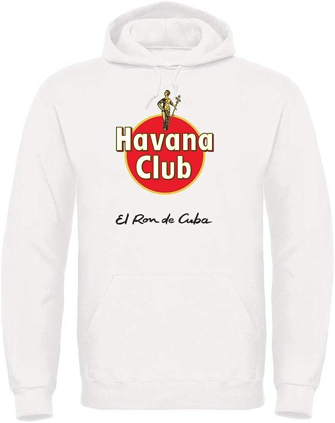 TsForYou Havana Club - Sudadera con capucha Bianco M: Amazon ...