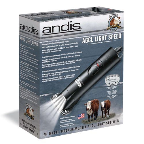 durable modeling Andis Pet LightSpeed Cattle & Horse Clippers with Super Blocking Blade (23225)