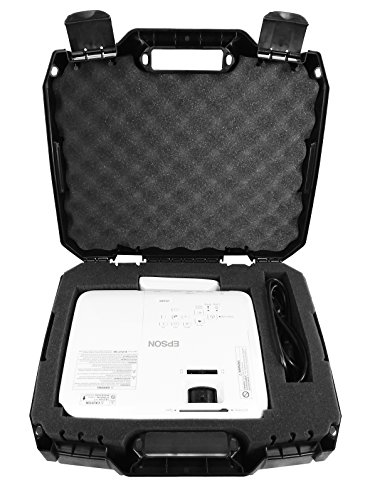 Casematix Video Projector Hard Case Fits Epson PowerLite and Home Cinema Dlp Wxga 1080p 3D Projectors for Select Models Pro EX9200, 1761W, 1284,640, 740HD, 1040 and More