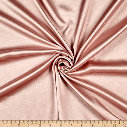 Ben Textiles Inc. Monaco Stretch Duchess Satin River Rose 579, Fabric by the Yard