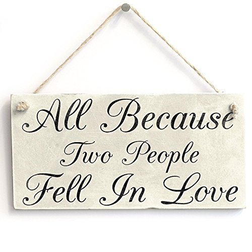 Meijiafei All Because Two People Fell in Love PVC Sign Wedding 10