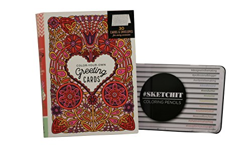 Color-Your-Own Greeting Cards and Colored Pencil Kit
