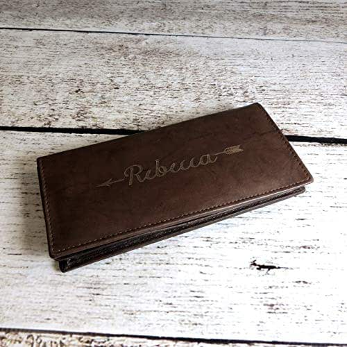 Amazon.com: Personalized Women's Leather Wallet: Handmade