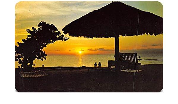 Bonita Puesta de Sol Cozumel Mexico Postcard Tarjeta Postal ...