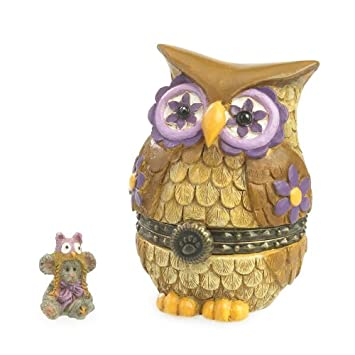 Boyd s Bear Miss Owl with Hootie Mcnibble Treasure Box 2013