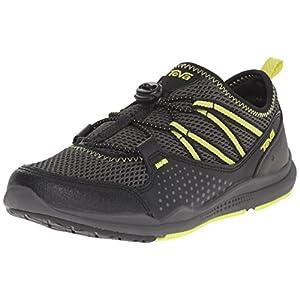 Teva Scamper Water Shoe (Toddler/Little Kid/Big Kid), Black/Grey/Lime-T, 5 M US Big Kid