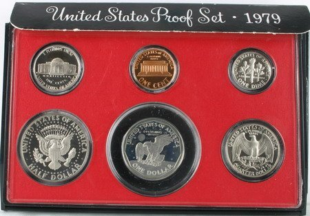 1979 S Proof Set (Quarter Susan B Anthony)
