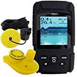 Lucky 2-in-1 Fish Finder Handheld Wired Cable 100m and 40m Wireless Sensor with Rechargeable Li Battery 110V