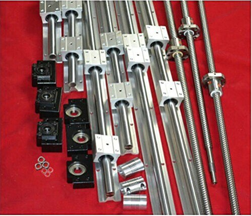 2 set SBR20-1200& 2 set SBR16-350/700 mm& RM1605--400/800/1300mm ballscrew &BK/BF12 & 8*10mm coupling CNC Kits