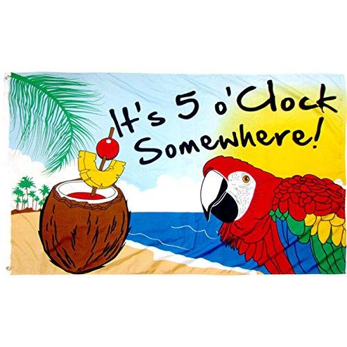 5 Oclock Somewhere Flag - 5
