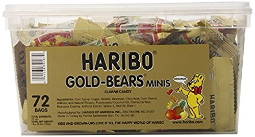 Haribo Gummi Bears 72CT Bag -