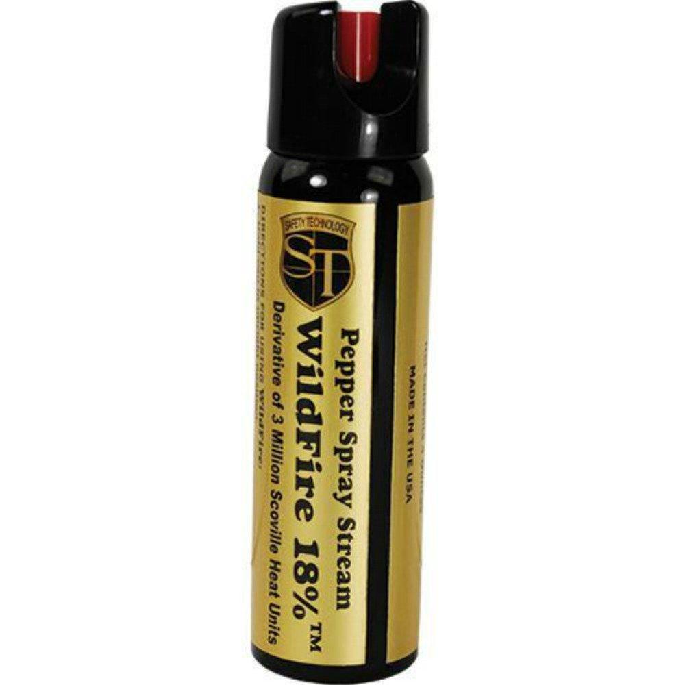Wildfire Pepper Spray 4 Ounce Stream -18% OC - Police Strength - Self Defense - Range 15-18 Feet by Wildfire Motors