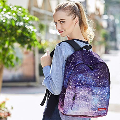 Blue Girls School Daypack Bag 1 Hiking Kids Unisex Rucksack Book Backpack Canvas Galaxy Travel Lingge Camping 6nW6Rqr