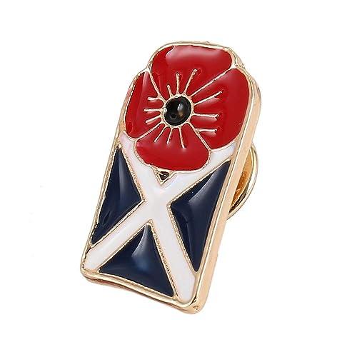 100th Anniversary 1918-2018 Poppy Remembrance Enamel Pin Badge Badges Brooch UK
