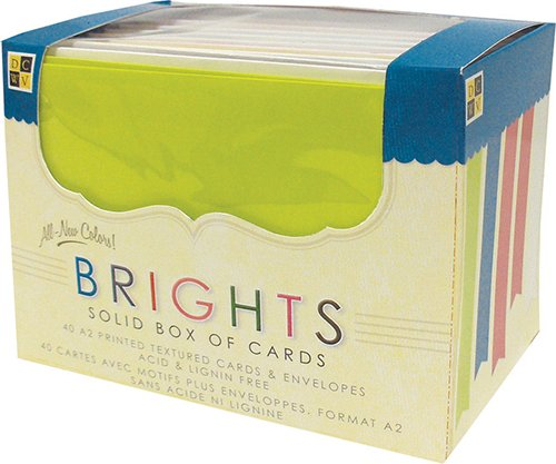 DCWV Box Of A2 Cards & Envelopes: Bright Solids