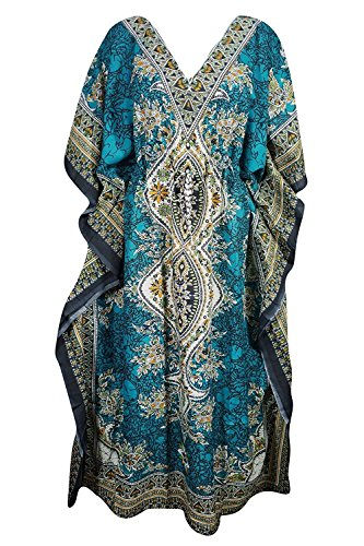 Delena Designs Women's Long Kaftan Dress Maxi Caftan Dress Gown Top Night Dress