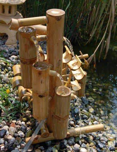 Wilai Bambus Wasserspiel Gartendeko Brunnen Wasserfall Fur Garten