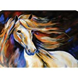 Westland Giftware Marcia Baldwin Canvas Wall Art Horse Wind II, 12-Inch by 16
