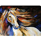 Westland Giftware Marcia Baldwin Canvas Wall Art Horse Wind II, 12-Inch by 16-Inch