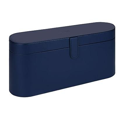 BUBM Caja de secador de pelo, portátil secador de pelo de viaje Funda de cuero