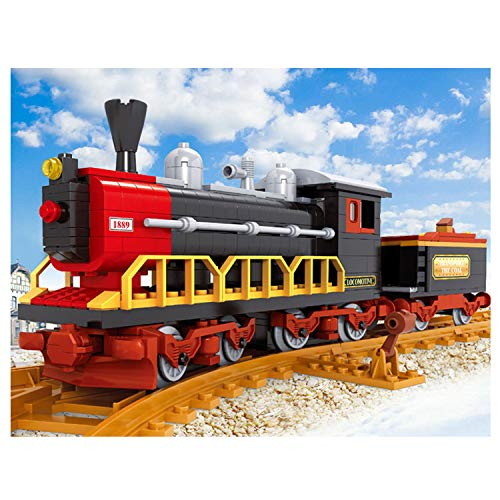 Bestoyz Classic Vintage Steam Trains Building Bricks Set, Collectible Old Aged Train Track Kit Toys for Kids Age 8, 9, 10+ (406PCS)