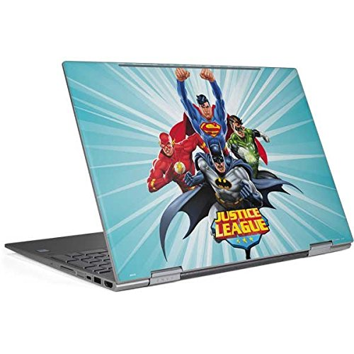 Skinit DC Comics Justice League Envy x360 15t (2018) Skin - Justice League Team Power Up Blue Design - Ultra Thin, Lightweight Vinyl Decal Protection by Skinit