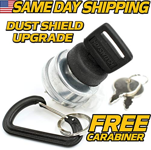 Cub Cadet Ignition Key Switch 1861 1862 2082 2084 2086 2130 2135 2140 2146 2150 w/Protective Cover Upgrade - Free Carabiner - HD Switch