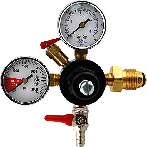 Double Gauge Nitrogen Regulator for Draft Beer Keg Dispensing - Nitro Style Draught Beer