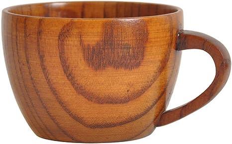 Amazon Com Euone Mug Wooden Cup Log Color Handmade Natural