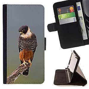 - hawk orange nature hunting fauna bird - - Prima caja de la PU billetera de cuero con ranuras para tarjetas, efectivo desmontable correa para l Funny HouseFOR Sony Xperia Z3 D6603