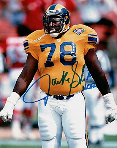 Jackie Slater Autographed 8X10 Photo Rams
