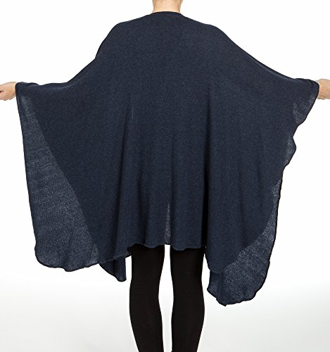 I ROCCHI CASHMERE - Poncho - para mujer Blu melange