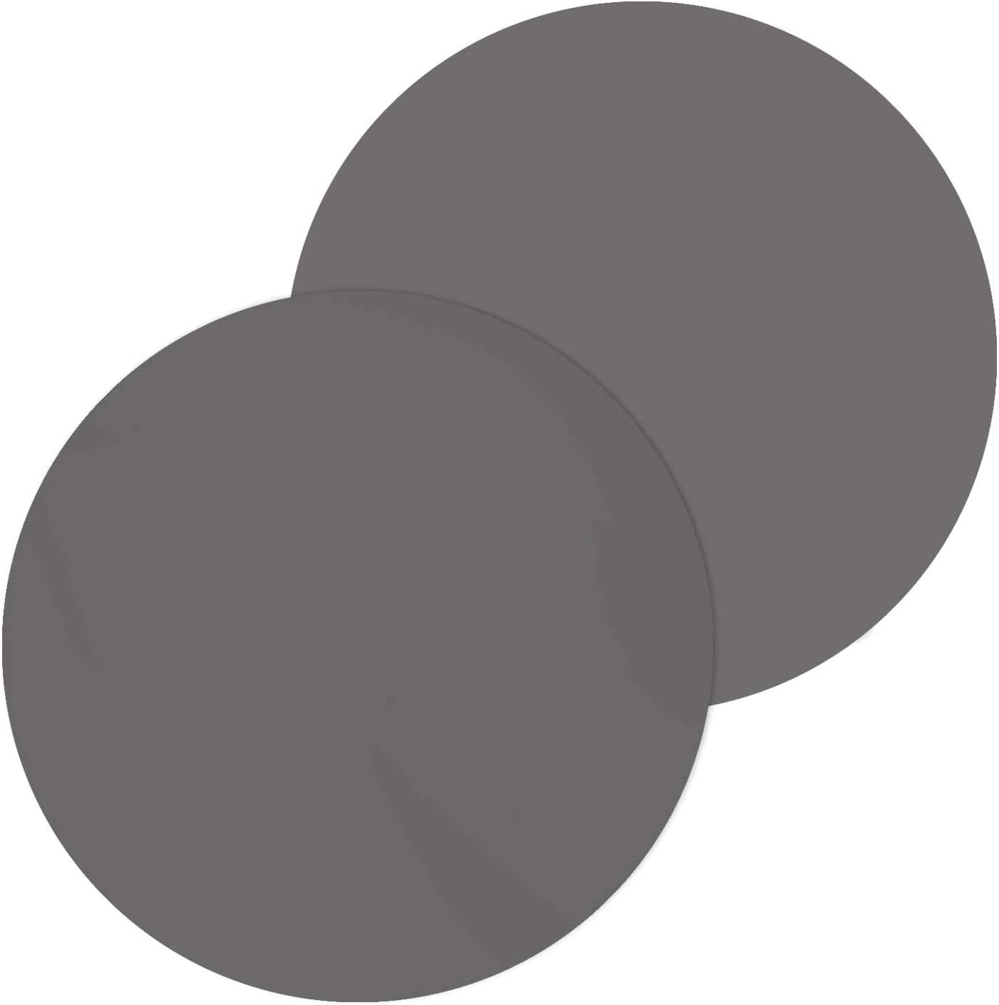 Silicone Microwave Mat - Reusable Non Stick Turntable Mat for Kitchen, Multi-Purpose Heat Resistant Oven Mat, Dishwasher Safe, 12 inch (2 Pack, Grey)