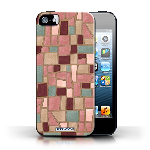 Etui / Coque pour Apple iPhone 5/5S / Rose/Pourpre conception / Collection de Carrelage Mosaïque