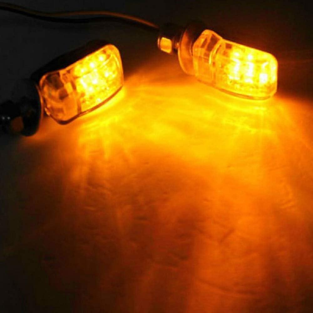 SUNWAN 2 indicadores de luz LED intermitente /ámbar universal intermitente