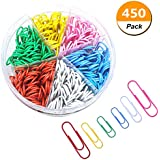 Paper Clip—450 28/50mm Colorful Paper Clips, for Office and Personal Document Organization (Colorful)