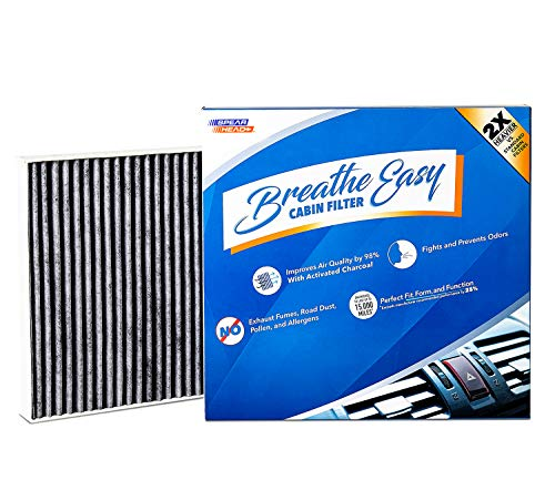 Spearhead Premium Breathe Easy Cabin Filter, Up to 25% Longer Life w/Activated Carbon (BE-729) ()