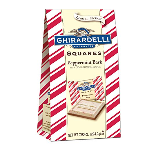 Ghirardelli Limited Edition Peppermint Bark Squares Bag, Milk Chocolate, 7.9 Ounce (Ghirardelli Chocolate Milk)