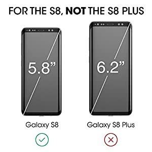 "Galaxy S8 Screen Protector Glass, amFilm 3D Curved Dot Matrix Full Screen Samsung Galaxy S8 Tempered Glass Screen Protector (5.8"") 2017 with Easy Application Tray (NOT S8 PLUS) (Case Friendly)"