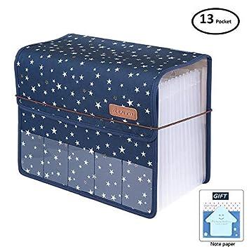 abreome ampliable carpeta archivadora A4 con 13 bolsillos para hojas Grito Bar Beit, portátil archivadores, carpeta archivadora (A4, NOU carpeta A4: ...