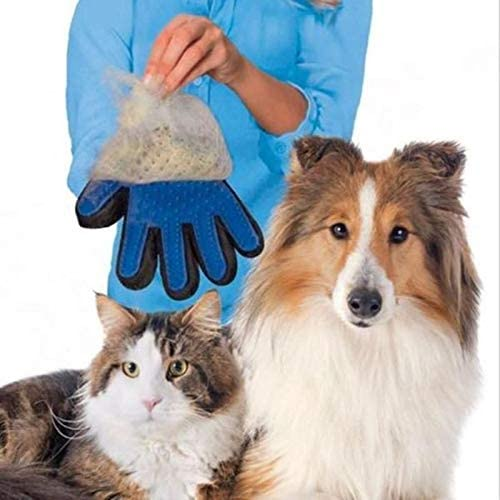 Veerve Right Hand Pet Grooming Glove Deshedding Fur Removal Massaging Gentle For Dogs Cats And Horses