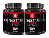 Longjack 200 : 1 - Tongkat Ali 400mg Premium Extract - Natural Testosterone Booster (6 Bottles 360 Capsules)