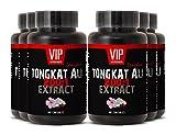 Sexual Enhancement Pills - TONGKAT ALI 200: 1 400 MG EXTRACT - Longjack Tongkat Ali 200 1 Powder - 6 Bottles 360 Capsules