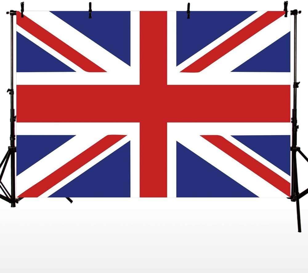 10x6.5Ft Vinyl Union Jack Backdrop for Photography,Classic Traditional Flag United Kingdom Modern British Loyalty Symbol Decorative Background Newborn Baby Photoshoot Portrait Studio Props Birthday Pa